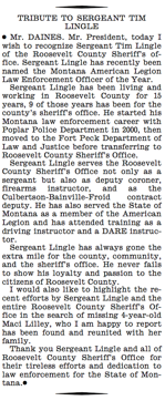 Sergeant Tim Lingle